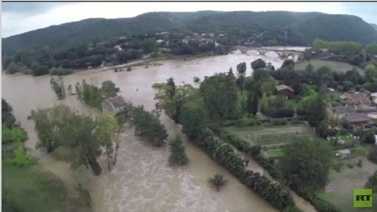 الفيضانات الغزيرة تضرب مناطق جنوب فرنسا (فيديو)