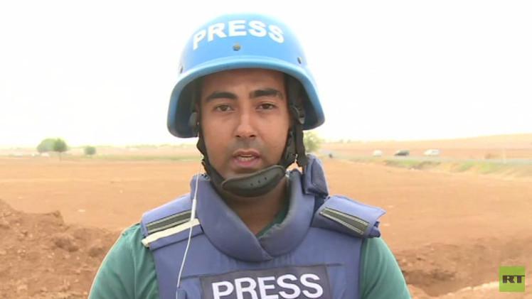 تعرض فريق قناة RT لإطلاق النار على الحدود السورية التركية