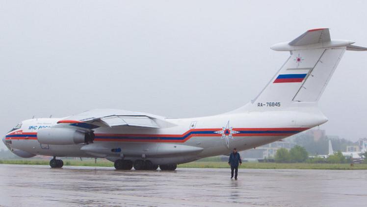 طائرة مساعدات إنسانية روسية لسورية تعيد 40 شخصا إلى موسكو