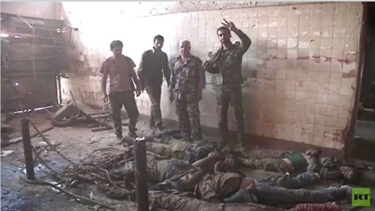 بالفيديو من سورية.. جثث مسلحي