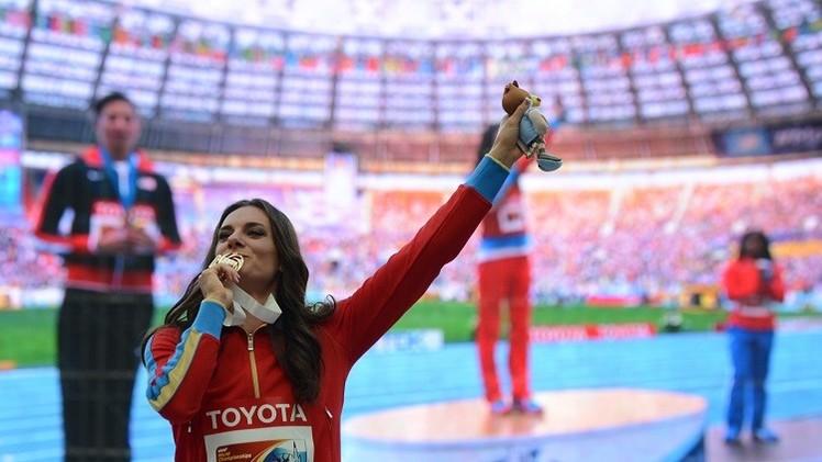 البطلة الروسية إيسينباييفا تسير وفق برنامج اعداد معين قبل أولمبياد 2016