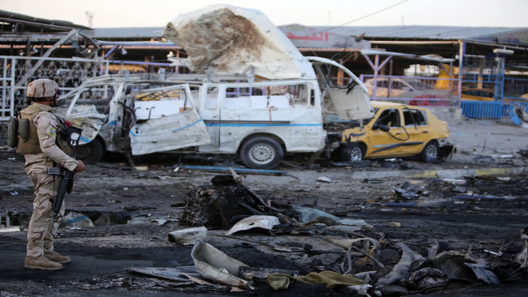 21 قتيلا على الأقل بانفجار في الحارثية غرب بغداد