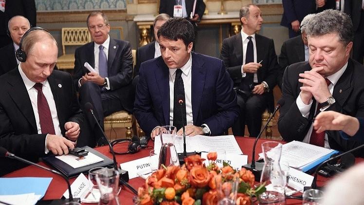 بوتين وبوروشينكو يؤكدان أهمية إنجاح التسوية في جنوب شرق أوكرانيا