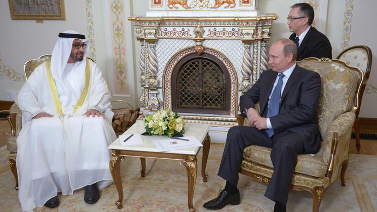 بوتين يناقش مع ولي عهد أبوظبي التعاون في مجال الاستثمارات والطاقة