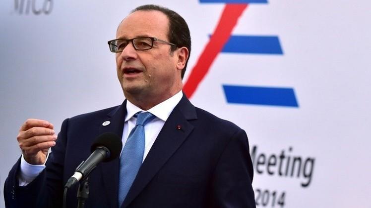 هولاند يعلن عن غارات جديدة للطيران الفرنسي على