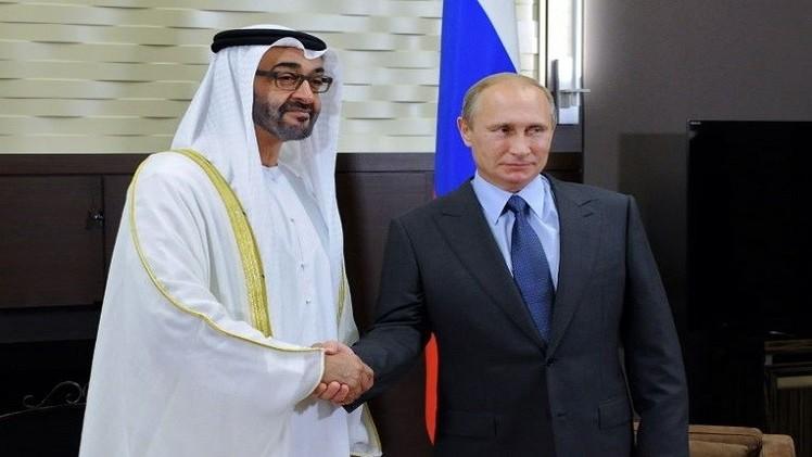 بوتين لولي عهد أبوظبي: روسيا قلقة من تطور الأوضاع في الشرق الأوسط