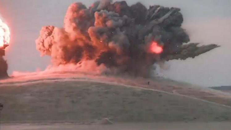 بالفيديو.. غارة أمريكية تستهدف مسلحين من