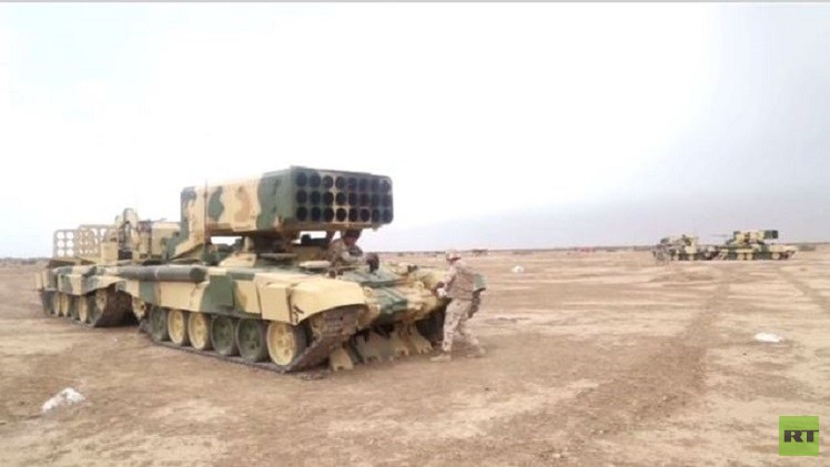 القوات العراقية تتدرب على استخدام الراجمات الروسية (فيديو)
