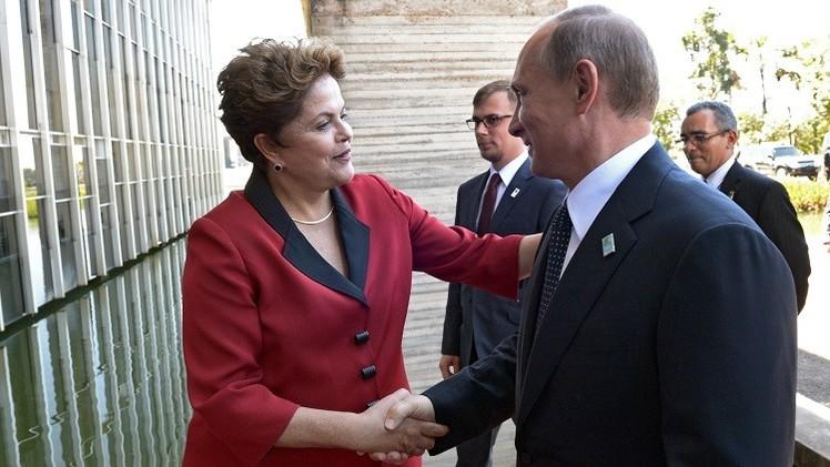 بوتين يهنئ روسيف بمناسبة إعادة انتخابها رئيسة للبرازيل