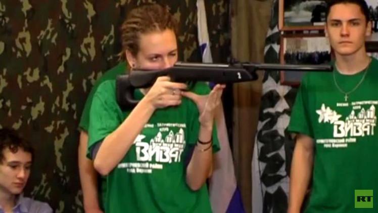 بالفيديو من روسيا.. تدريبات عسكرية لأطفال الأوكرانيين اللاجئين