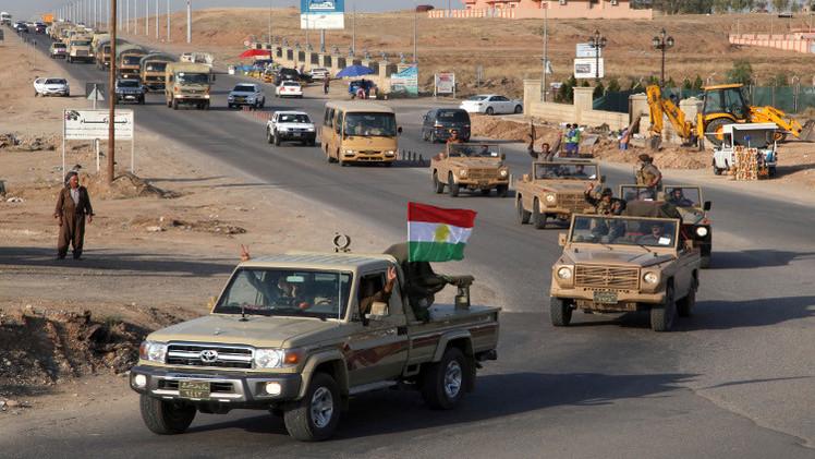 البيشمركة في طريقها إلى عين العرب السورية