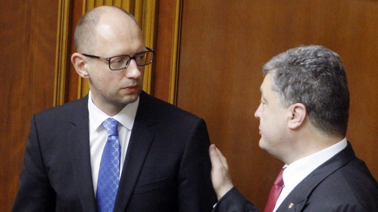 ياتسينيوك ينوي البقاء في منصبه وتشكيل ائتلاف برلماني موال لأوروبا