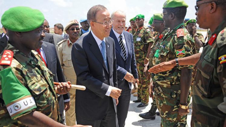 بان كي مون يؤكد دعمه للصومال في مكافحة