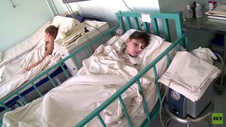 معاناة الأطفال الجرحى جنوب شرق أوكرانيا