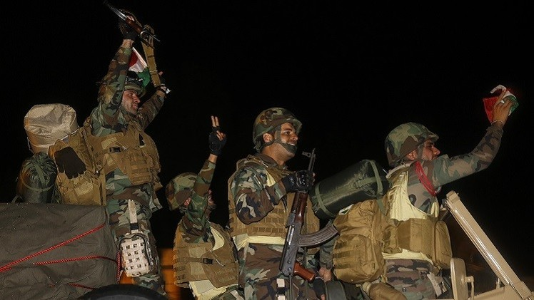 طلائع قوات البيشمركة تدخل عين العرب (فيديو)