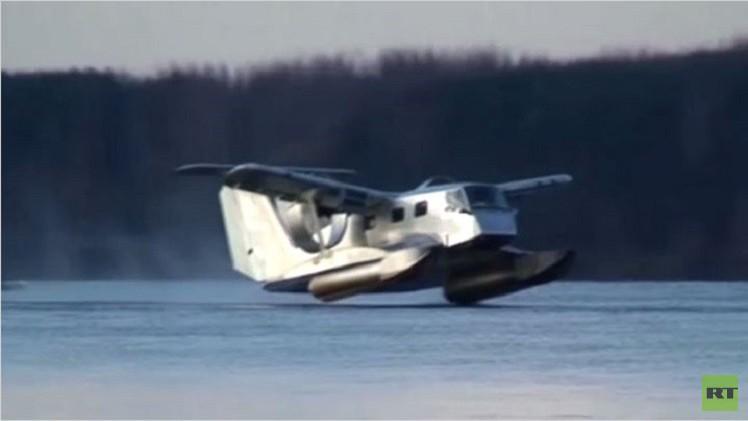 مركبة روسية برمائية مجنحة قد تصبح واسطة نقل مستقبلية (فيديو)
