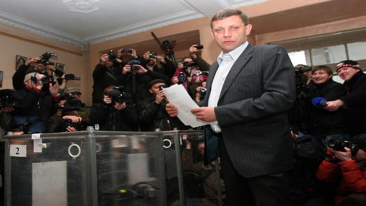 زاخارتشينكو وبلوتنيتسكي يفوزان بالانتخابات الرئاسية في دونيتسك ولوغانسك شرق أوكرانيا