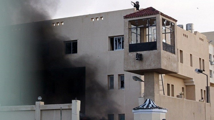 استهداف مبنى محافظة شمال سيناء بالهاون