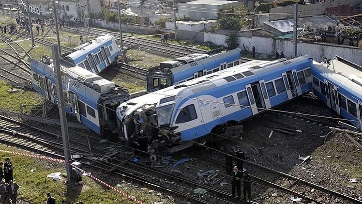 قتيل وأكثر من 53 جريحا في حادث قطار بالجزائر العاصمة