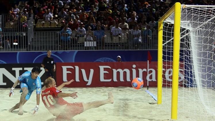 روسيا تفوز على أمريكا في كأس القارات لكرة القدم الشاطئية
