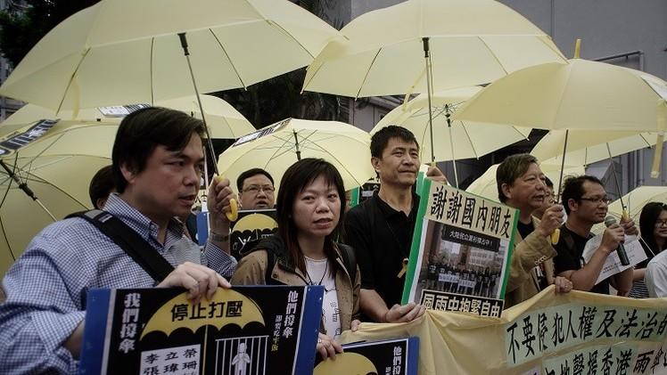 اشتباكات بين محتجين وشرطة هونغ كونغ