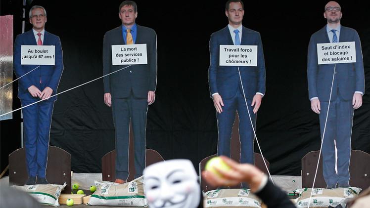 بروكسل تشهد إضرابا عاما احتجاجا على سياسة الحكومة التقشفية (فيديو)