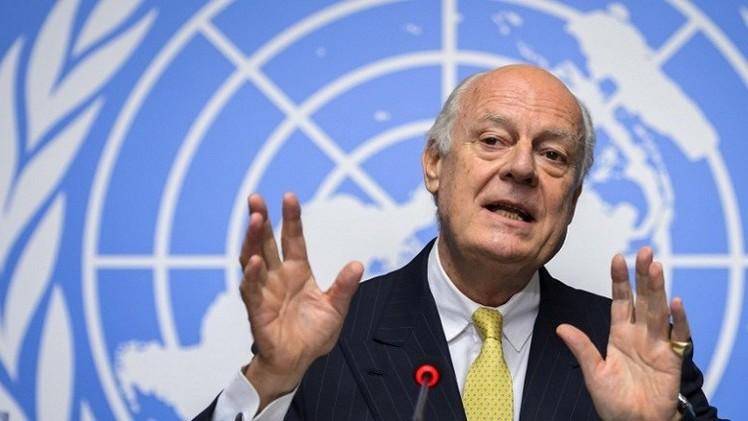 المبعوث الأممي الخاص الى سوريا يصل دمشق