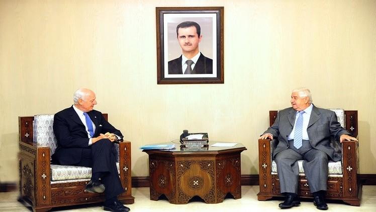 المبعوث الأممي يلتقي المعلم في دمشق