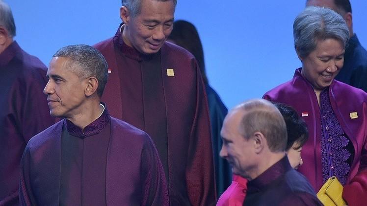 الكرملين: بوتين وأوباما تبادلا التحية من دون أن يتحادثا