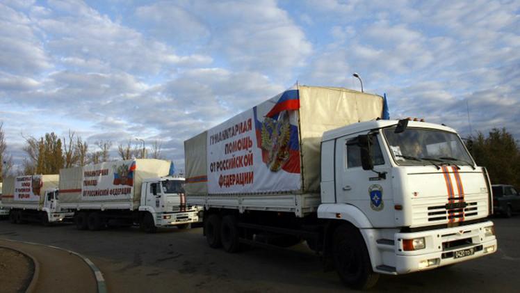 قافلة مساعدات إنسانية روسية جديدة إلى شرق أوكرانيا
