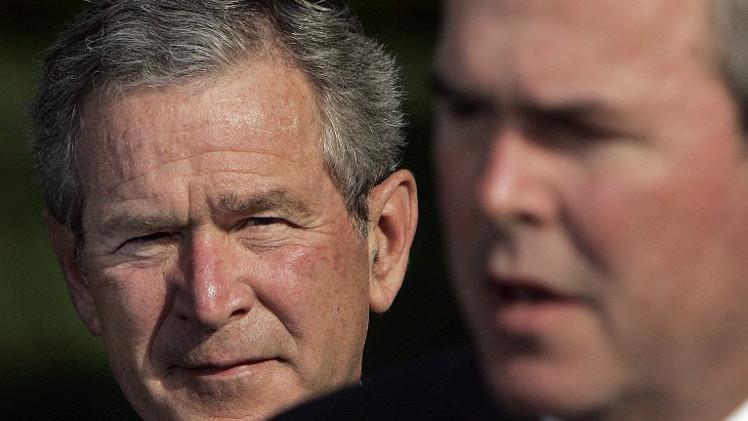 جورج بوش الإبن يحث شقيقه جيب على الترشح في انتخابات الرئاسة أمام كلينتون