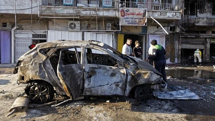 17 قتيلا و57 جريحا في هجومين بسيارتين مفخختين في بغداد