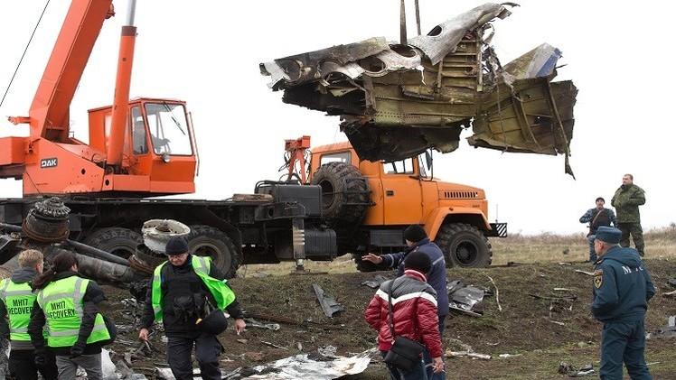بدء نقل حطام الطائرة الماليزية MH17 في شرق أوكرانيا