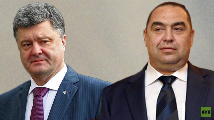 رئيس جمهورية لوغانسك يتحدى الرئيس الأوكراني في مبارزة