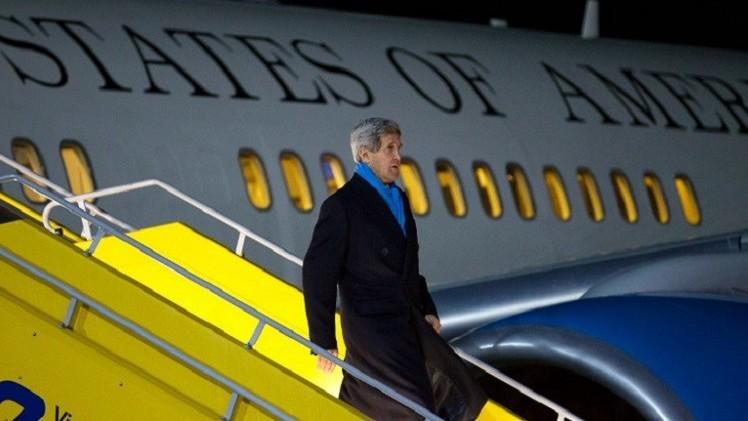 وصول جون كيري إلى فيينا للمشاركة في جولة المفاوضات النووية الإيرانية