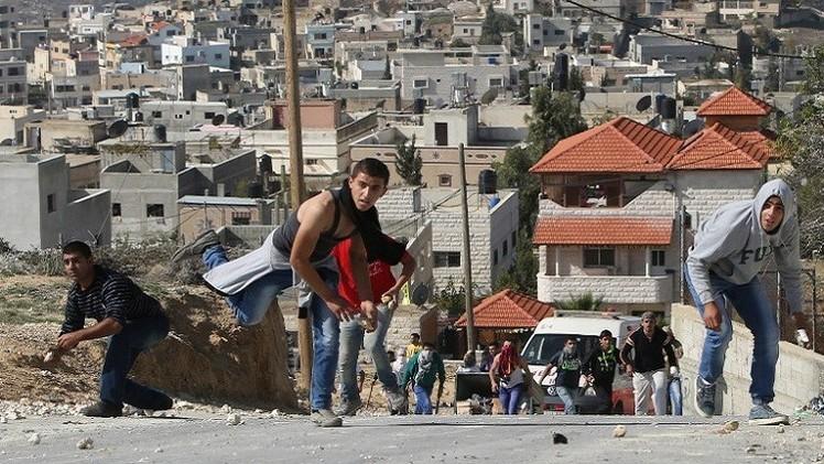 مواجهات جنوب الخليل بين الفلسطينيين والقوات الإسرائيلية