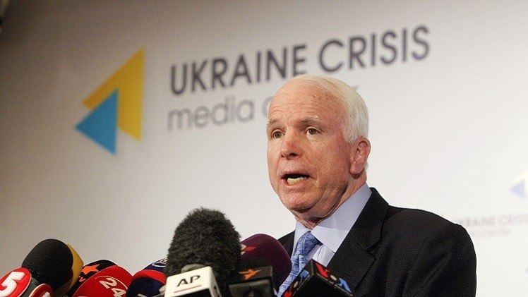 ماكين: الكونغرس سيجهد لحث البيت الأبيض على تسليح أوكرانيا