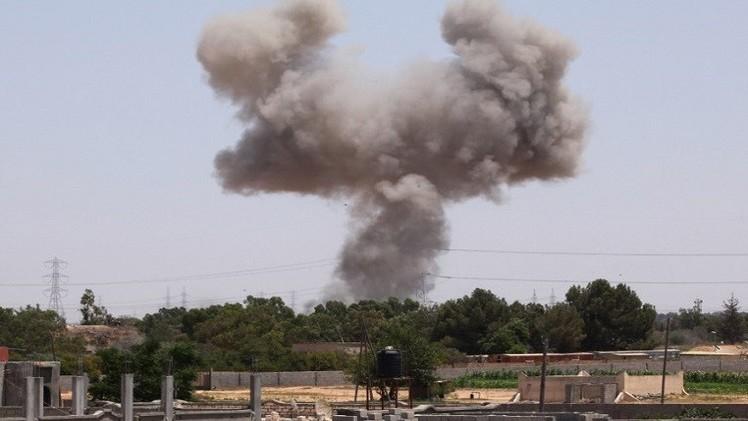 الطيران الليبي يقصف مواقع لـ