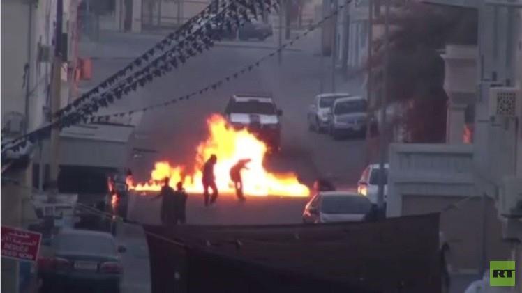 اشتباكات في البحرين على خلفية مقاطعة الانتخابات (فيديو)