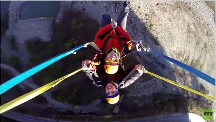 بالفيديو من روسيا.. افتتاح أعلى أرجوحة في العالم