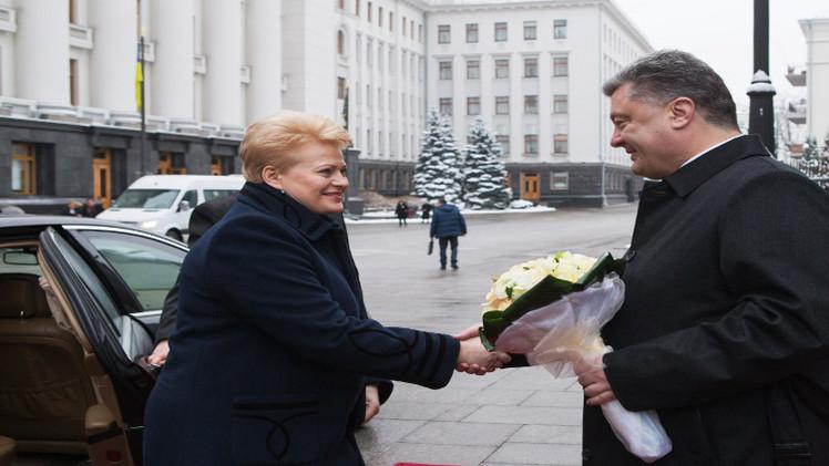 بوروشينكو يتفق مع رئيسة ليتوانيا على توريد أسلحة لجيشه
