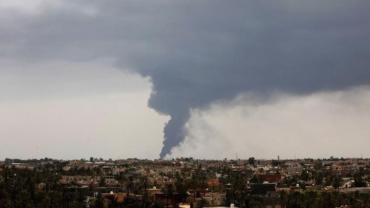 أ ف ب: القوات التابعة لحفتر تعلن مسؤوليتها عن استهداف مطار في طرابلس