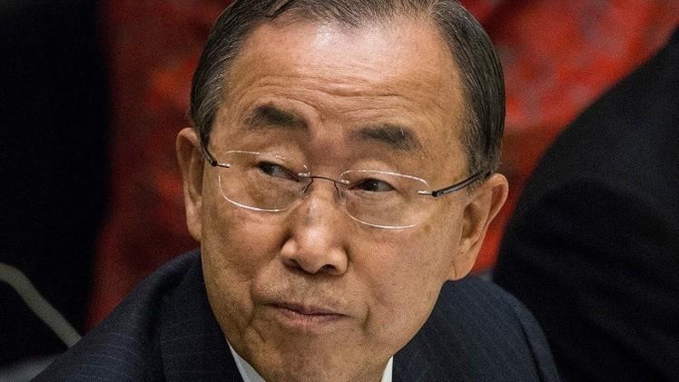 بان كي مون يدعو إلى إنهاء احتلال الأراضي الفلسطينية ورفع الحصار عن غزة