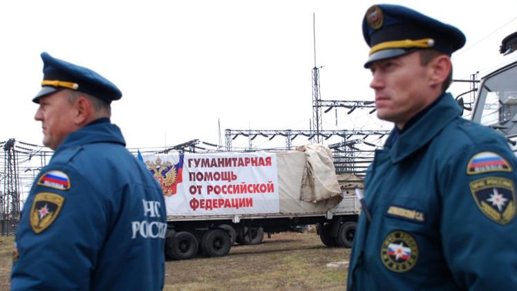 روسيا تجهز قافلة مساعدات جديدة إلى شرق أوكرانيا