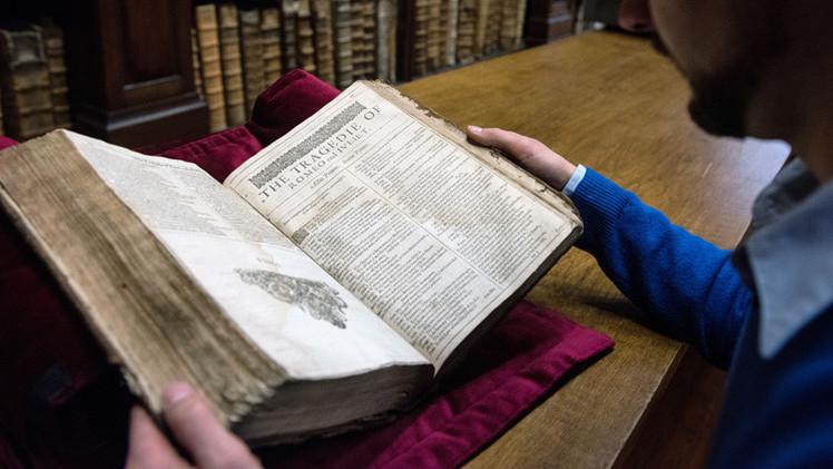 العثور على كتاب نادر يضم أول مجموعة من مسرحيات شكسبير