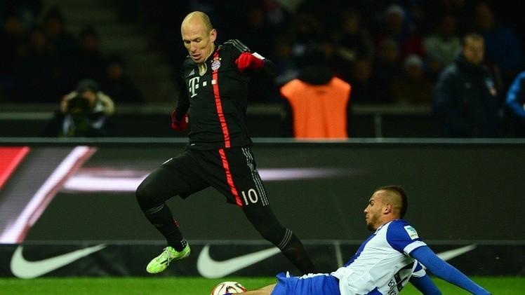 بايرن ينجو بفوز صعب أمام هيرتا برلين في البوندسليغا