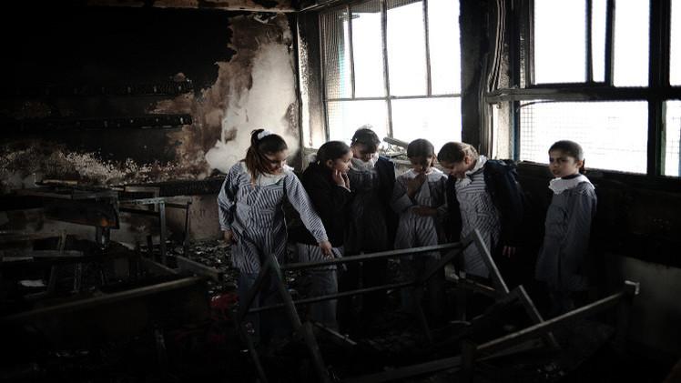 حريق متعمد بمدرسة في القدس