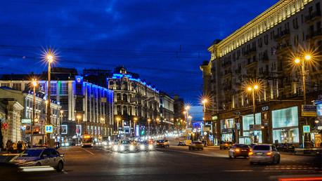شارع تفيرسكايا وسط العاصمة موسكو