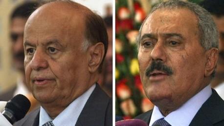 الرئيس اليمني عبد ربه منصور هادي وسلفه علي عبد الله صالح