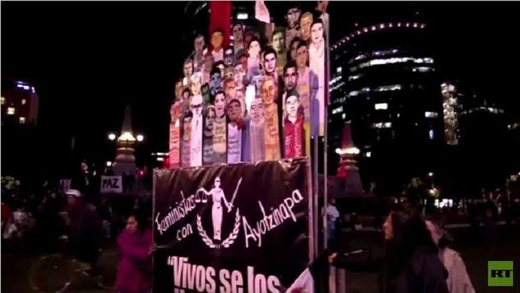 المظاهرات لا تزال مشتعلة في المكسيك على خلفية اختفاء الـ 43 طالبا (فيديو)